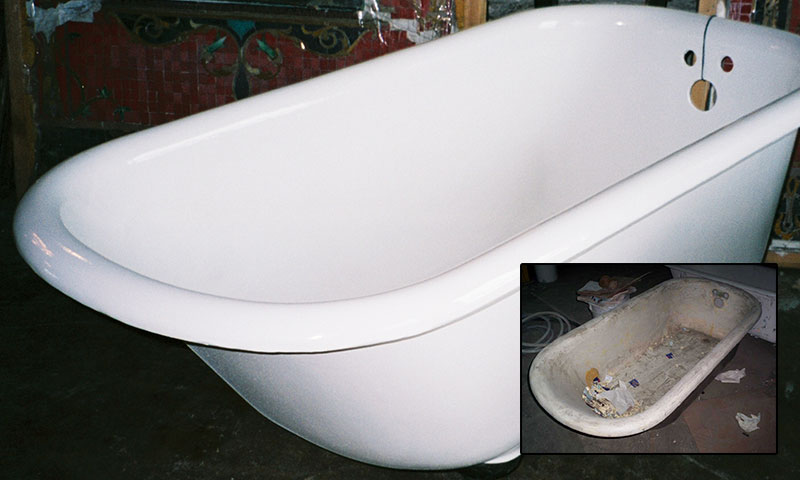 A bathtub after resurfacing